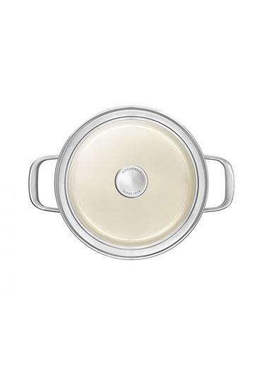 KitchenAid Artisan Cc003266-001 3,7 Litre Bej 20 Cm Çelik Tencere Renkli